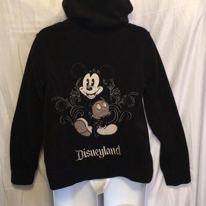 Mickey Mouse Black Fleece Zip Hoodie Size XL